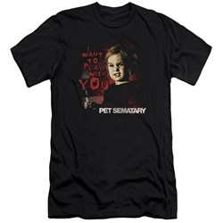 Pet Sematary - Mens I Want To Play Premium Slim Fit T-Shirt