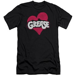 Grease - Mens Heart Premium Slim Fit T-Shirt