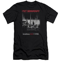 Pet Semetary - Mens Cat Poster Premium Slim Fit T-Shirt