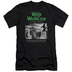 War Of The Worlds - Mens Attack People Poster Premium Slim Fit T-Shirt