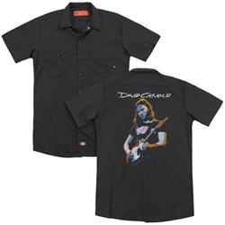 David Gilmour - Mens Guitar Gilmour (Back Print) Work Shirt