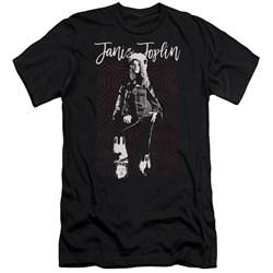 Janis Joplin - Mens Minimal J Premium Slim Fit T-Shirt
