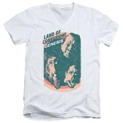 Genesis - Mens Land Of Confusion V-Neck T-Shirt