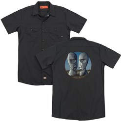 Pink Floyd - Mens Division Bell Cover (Back Print) Work Shirt