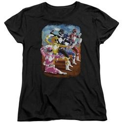 Power Rangers - Womens Impressionist Rangers T-Shirt