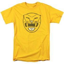 Power Rangers - Mens Yellow Ranger Mask T-Shirt