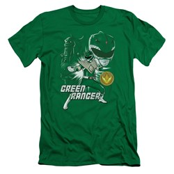 Power Rangers - Mens Green Ranger Slim Fit T-Shirt