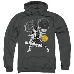 Power Rangers - Mens Black Ranger Pullover Hoodie
