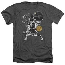 Power Rangers - Mens Black Ranger Heather T-Shirt