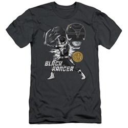 Power Rangers - Mens Black Ranger Slim Fit T-Shirt