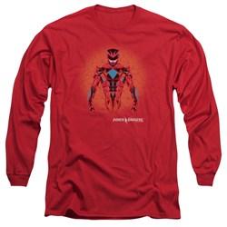 Power Rangers - Mens Red Power Ranger Graphic Long Sleeve T-Shirt