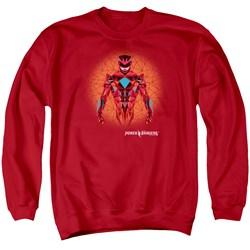 Power Rangers - Mens Red Power Ranger Graphic Sweater