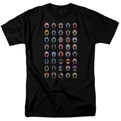 Power Rangers - Mens Visual Timeline T-Shirt