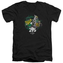 Power Rangers - Mens Green 25 V-Neck T-Shirt