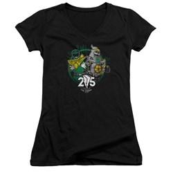 Power Rangers - Juniors Green 25 V-Neck T-Shirt