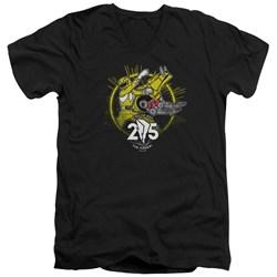Power Rangers - Mens Yellow 25 V-Neck T-Shirt