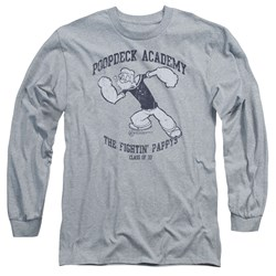 Popeye - Mens Poopdeck Academy Long Sleeve T-Shirt