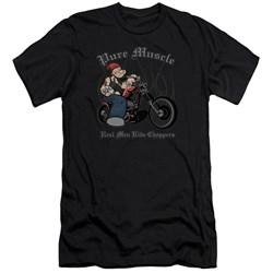 Popeye - Mens Pure Muscle Premium Slim Fit T-Shirt