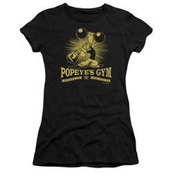 Popeye - Juniors Popeyes Gym Premium Bella T-Shirt