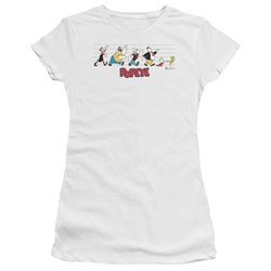 Popeye - Juniors The Usual Suspects Premium Bella T-Shirt