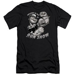 Popeye - Mens Gun Show Premium Slim Fit T-Shirt