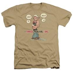 Popeye - Mens The Thinkster Heather T-Shirt