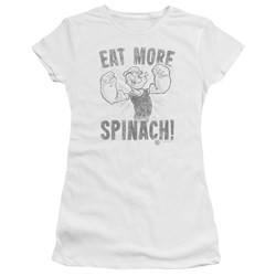 Popeye - Juniors Eat More Spinach Premium Bella T-Shirt
