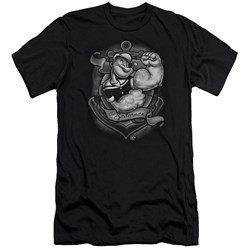 Popeye - Mens Anchors Away Premium Slim Fit T-Shirt