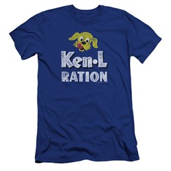 Ken L Ration - Mens Distressed Logo Premium Slim Fit T-Shirt