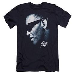 Ray Charles - Mens Blue Ray Premium Slim Fit T-Shirt