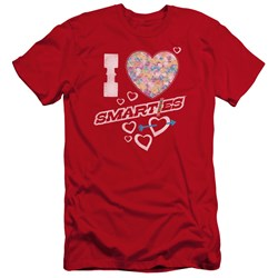 Smarties - Mens I Heart Smarties Premium Slim Fit T-Shirt