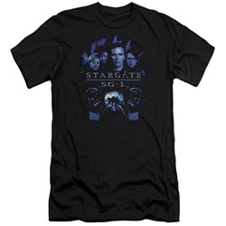Sg1 - Mens Sg1 Stargate Command Premium Slim Fit T-Shirt