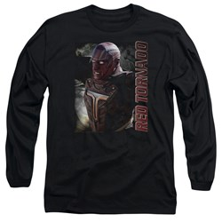Supergirl - Mens Red Tornado Long Sleeve T-Shirt