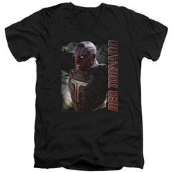 Supergirl - Mens Red Tornado V-Neck T-Shirt