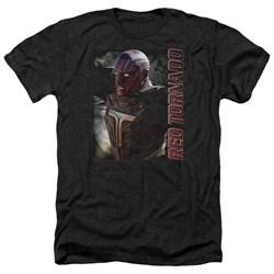 Supergirl - Mens Red Tornado Heather T-Shirt