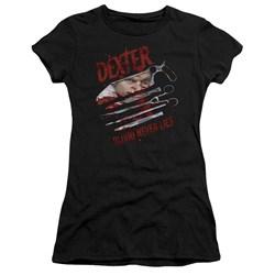 Dexter - Juniors Blood Never Lies Premium Bella T-Shirt