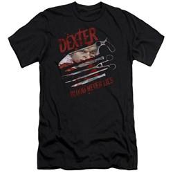 Dexter - Mens Blood Never Lies Premium Slim Fit T-Shirt