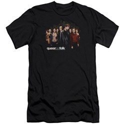 Queer As Folk - Mens Title Premium Slim Fit T-Shirt