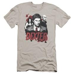 Dexter - Mens Bloody Trio Premium Slim Fit T-Shirt