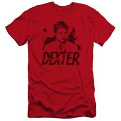 Dexter - Mens Splatter Dex Premium Slim Fit T-Shirt