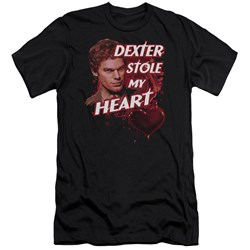 Dexter - Mens Bloody Heart Premium Slim Fit T-Shirt