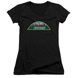 Twin Peaks - Juniors Sheriff Department V-Neck T-Shirt