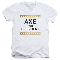 Billions - Mens Axe For President V-Neck T-Shirt