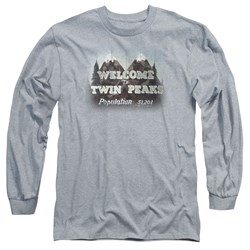 Twin Peaks - Mens Welcome To Long Sleeve T-Shirt