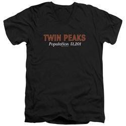 Twin Peaks - Mens Population V-Neck T-Shirt