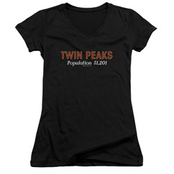 Twin Peaks - Juniors Population V-Neck T-Shirt