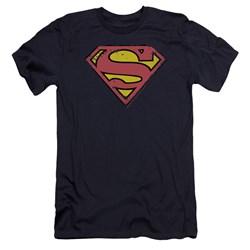 Superman - Mens Distressed Shield Premium Slim Fit T-Shirt