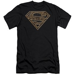 Superman - Mens Aztec Shield Premium Slim Fit T-Shirt