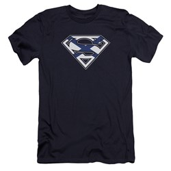 Superman - Mens Scottish Shield Premium Slim Fit T-Shirt
