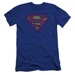 Superman - Mens Little Logos Premium Slim Fit T-Shirt